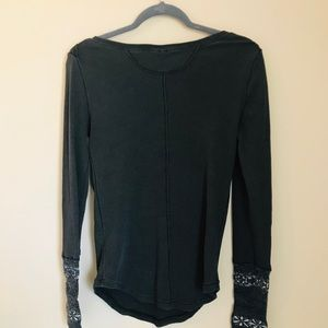 Free People long sleeve with detailed cuff.